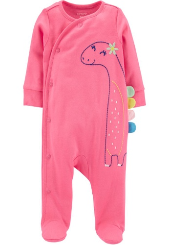 Carter's pink CARTER'S Girl Dinosaur Side-Snap Romper A0DADKA509685DGS_1