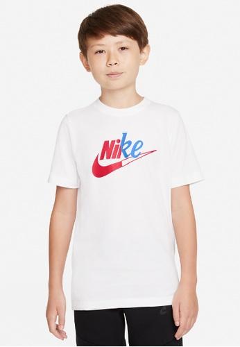 Nike white Big Kids' (Boys') T-Shirt E8F32KA06F9E08GS_1