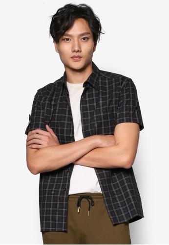 直排鈕格子襯衫, 服飾, 短esprit outlet hk袖襯衫