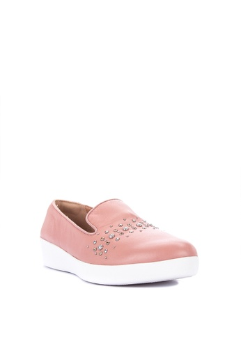 da985d3948e5 Shop Fitflop Audrey Pearl Stud Smoking Slippers-Loafer Online on ZALORA  Philippines