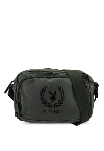 Playboy green Unisex Sling Bag 05BB3AC356D7E8GS_1