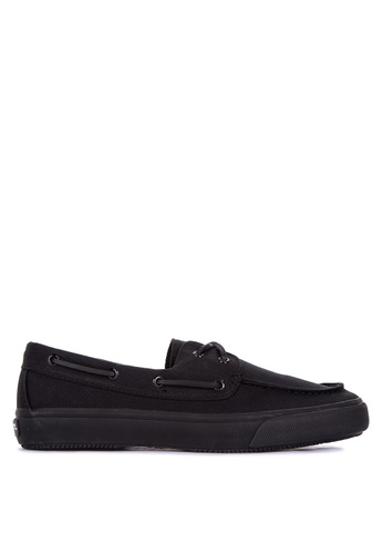 Sperry black Bahama 2-Eye Canvas Boat Shoes 6FB90SH057AFFBGS_1