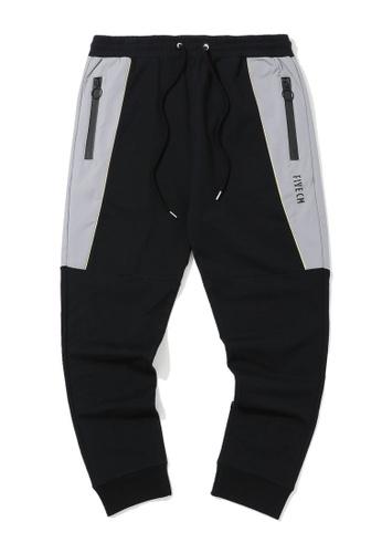 Fivecm black Panelled zip sweatpants 02EE6AA28E5CB6GS_1