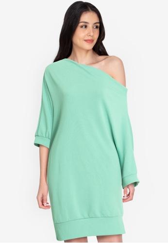Chictees green Alisa Loose Dress C0E94AA6750DDCGS_1