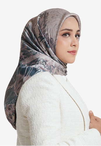 Buttonscarves brown Buttonscarves The Farsha Voile Square Khaki 18421AA1EBA040GS_1
