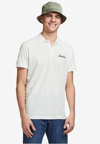 Jack & Jones white Tons Short Sleeves Polo Shirt 34725AA329EBCEGS_1