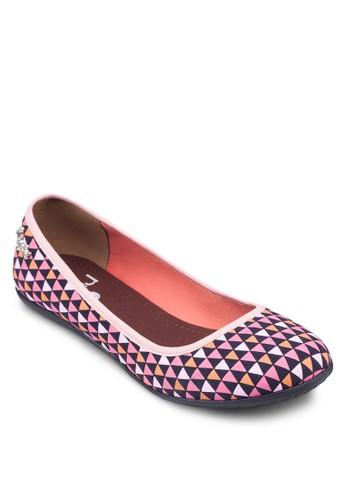 Jac 撞色幾何三角平底鞋, 女鞋,esprit品牌介绍 鞋
