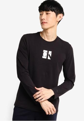 Calvin Klein black A-Small Center Ck Bo - Calvin Klein Jeans B2CCCAA6417CBBGS_1
