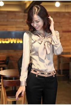 Women's Trendy Khaki Solid Shirt