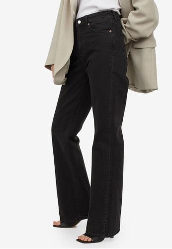 H&M black Bootcut High Jeans 3DD25AA623D355GS_1