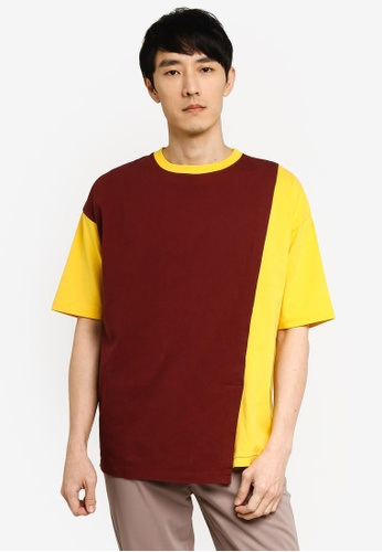 niko and ... red Colour Block Tee 666FEAAB45C045GS_1