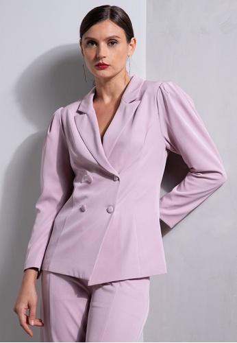 ZALORA OCCASION pink Puff Sleeve Blazer BF2C8AA46E625CGS_1