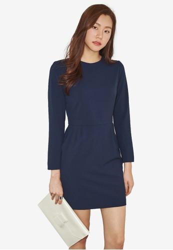 NAIN navy Slim Fit Dress 3B93CAA81E508EGS_1