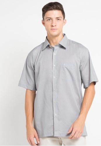 Manhattan grey Shirt Short Sleeve MA642AA46VYFID_1