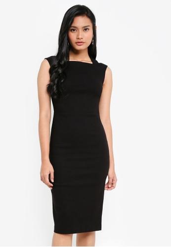 Dorothy Perkins black Black Cap Sleeve Pencil Dress E3204AAA624B47GS_1