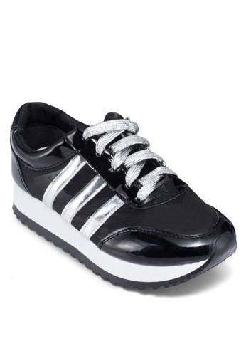 雙色厚底休閒運動鞋zalora taiwan 時尚購物網鞋子, 女鞋, 鞋