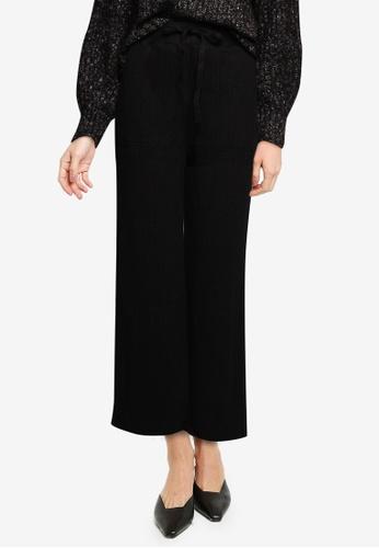 GLOBAL WORK black Textured Trousers 57F0DAA052DBCFGS_1
