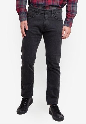 ESPRIT 黑色 Denim Length Service Pants C82BEAAC7255F8GS_1