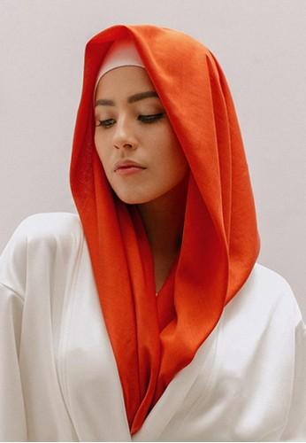 SAVRA red Savra Hijab Bamboo Basic - Terracotta 30650AAB1ED228GS_1
