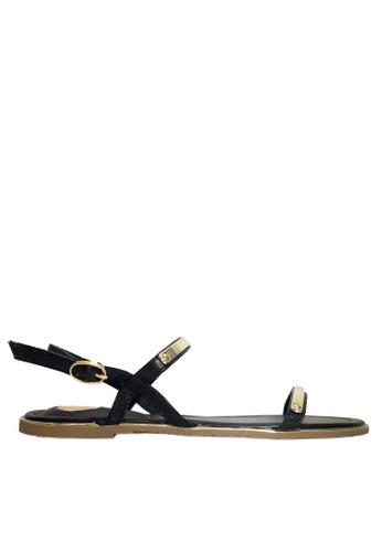 Twenty Eight Shoes black Sexy Strappy Flat Sandals VS8868 06820SH9C77F4EGS_1