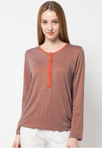 TRISET Ladies orange Long Sleeve Tee 054 TR970AA96ZQPID_1