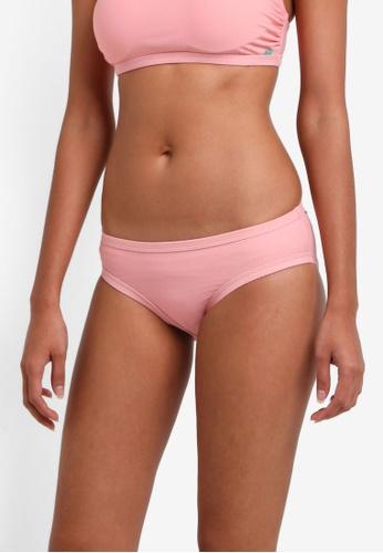 Piha pink Textured Solid Bound Bikini Bottom PI734US0RU2GMY_1