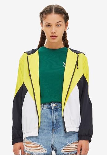 TOPSHOP yellow Colour Block Windbreaker Jacket 52716AA818E211GS_1