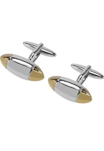 CUFF IT multi Silver and Gold Bullet Shape Cufflinks CU047AC21VVQHK_1