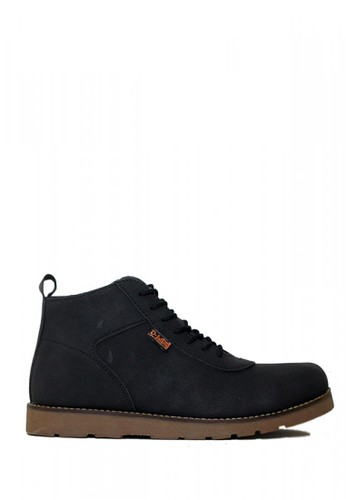 D-Island black D-Island Shoes Venture Boots New Comfort Leather Black 4C3D3SHFD32B02GS_1