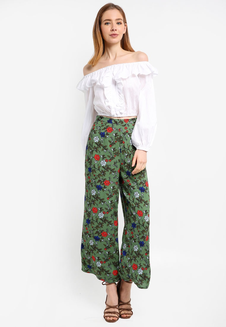 Fifth Assonance Sage Floral The Pants Label ZqwBndE