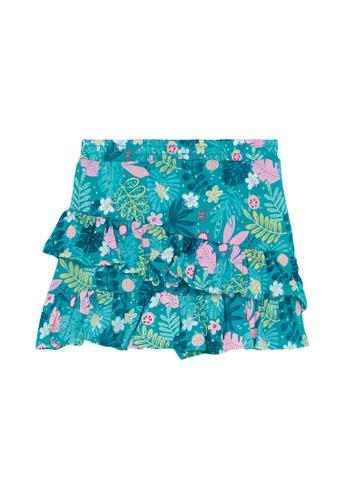 Du Pareil Au Même (DPAM) green Frill Skirt F64A1KA50F2B54GS_1