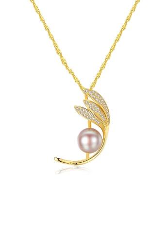 A.Excellence purple Premium Purple 18K Pearl Elegant Necklace CA4E1ACEB1C954GS_1