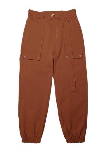 DRUM brown SIDE STRIPE POCKET CARGO PANTS - BROWN F0E70AA2579B6AGS_1