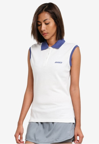 2GO white Sleeveless Polo Shirt 2G729AA0S5WVMY_1