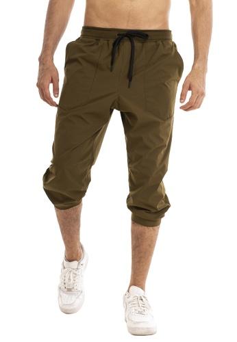 RYZ green RYZ Slim Fit Khaki Woven Capri Joggers 2.0. E9ABAAA0CA046BGS_1