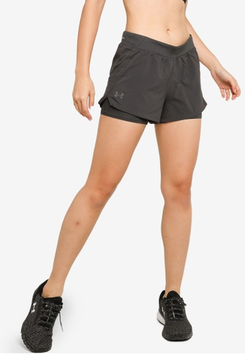 Under Armour grey Iso-Chill Run 2-In-1 Shorts 4231DAA586070AGS_1