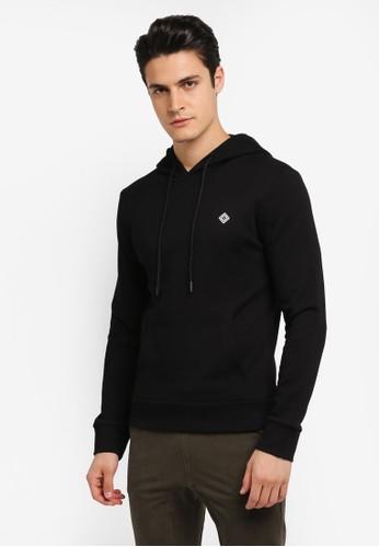 JAXON black Hooded Logo Pullover 27256AA24CD893GS_1