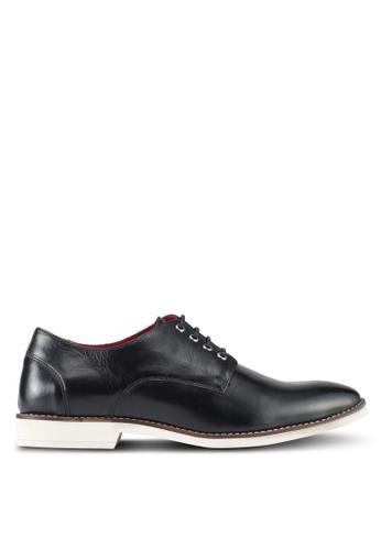 ACUTO black Leather Shoes AC283SH0SL72MY_1