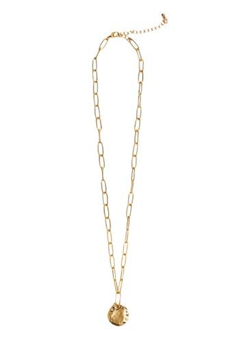 Mango gold Pendant Chain Necklace C4EF8AC61D0394GS_1
