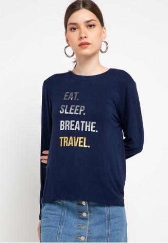 Lois Jeans navy Spandex T-Shirt KSC626 C2C50AA609CFA5GS_1