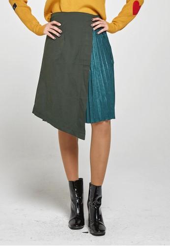 韓流時尚 不平衡esprit台灣outlet打褶迷笛裙 F4017, 服飾, 洋裝