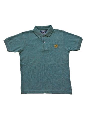 KAMDAR blue Boys collar T/shirt 22B8AKA413965AGS_1