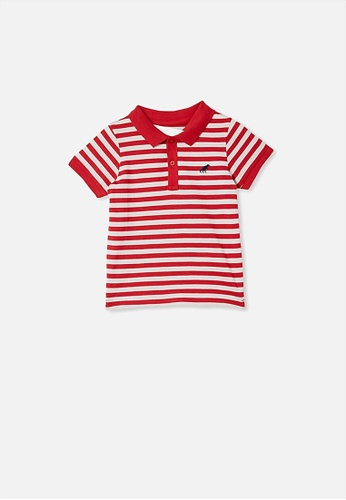 Cotton On Kids red Kendricks Polo 21162KAD39A448GS_1