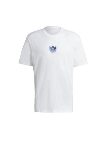 ADIDAS white adidas Originals LOUNGEWEAR Adicolor 3D Trefoil Tee 3BB5BAABB151C1GS_1