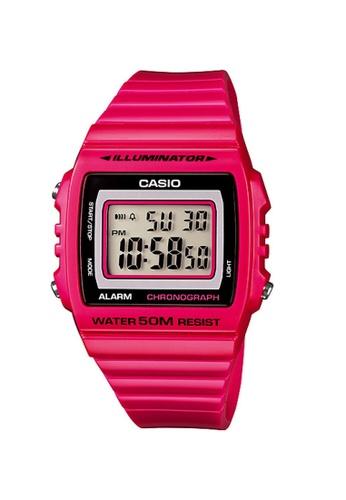 Casio pink Casio Men's Digital W-215H-4AVDF Pink Resin Band Sport Watch E6AB0AC3FDB9ADGS_1