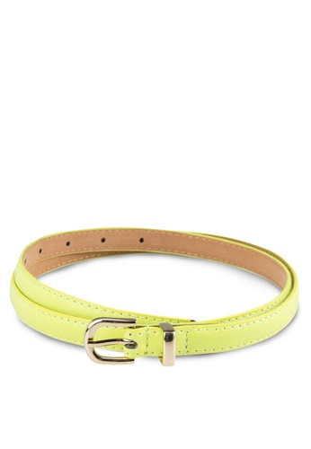 Zolace yellow and gold Essentially Ready Belt ZO350AC53PJEMY_1