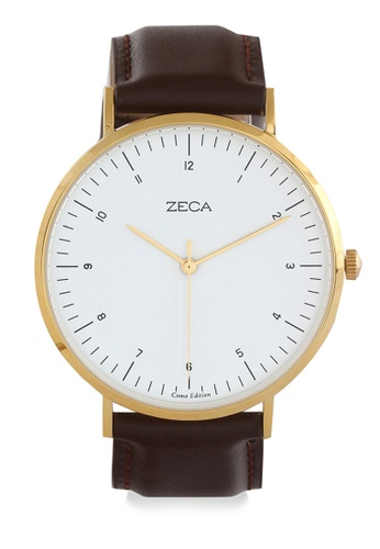 ZECA brown and gold Zeca Watches Couple Ladies Fashion - 3007L Brown Gold ZE074AC0UL27ID_1