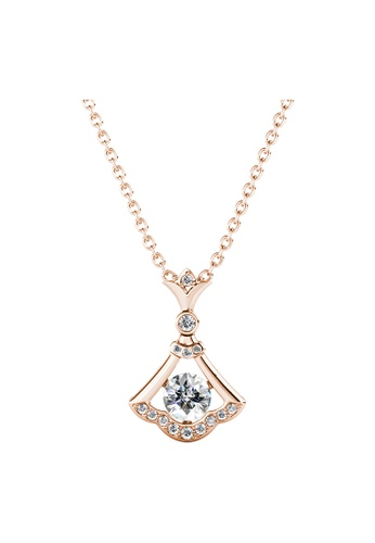 Her Jewellery gold Flint Pendant (Rose Gold) - Made with Premium grade crystals from Austria 4CB00ACED96ACDGS_1