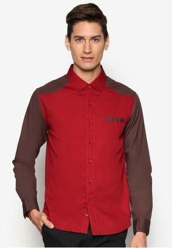 拼色esprit 折扣長袖襯衫, 服飾, 襯衫