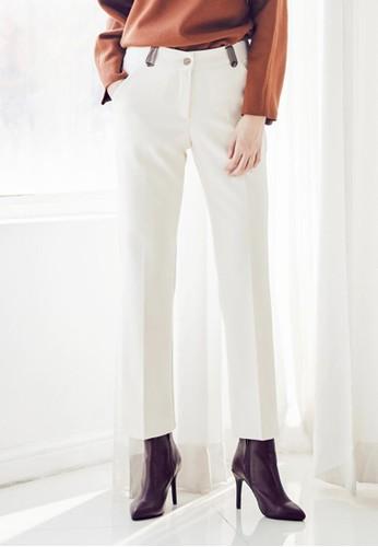 皮革細esprit hk outlet節西褲, 服飾, 長褲及內搭褲
